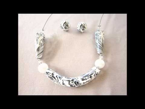 Black and white Necklace (Polymerclay)