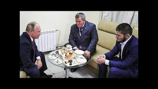 Video Vladimir Putin meets Khabib and his father to discuss Conor McGregor fight ( translated) MP3, 3GP, MP4, WEBM, AVI, FLV Februari 2019