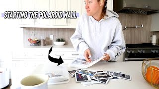 starting the diy polaroid wall!! by Alisha Marie Vlogs