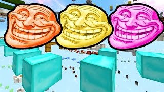 """Minecraft FANTASTIC Parkour """"Invisible Block Troll"""" w/ The Pack!"""