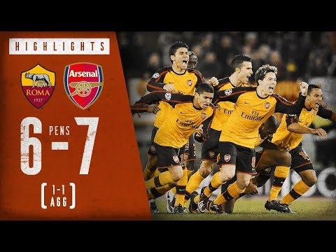 6-7 on penalties! | Roma 1-1 Arsenal (on aggregate) | Arsenal Classics | March 11, 2009
