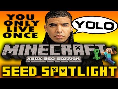 Minecraft Xbox 360 Seed Spotlight #8 - YOLO (Epic Mountains, Giant River, Ton of Villages)