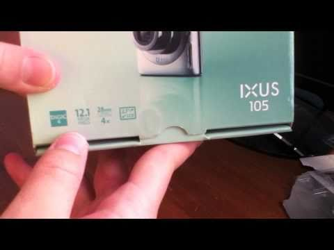 Cannon IXUS 105 Digital Camera Unboxing!