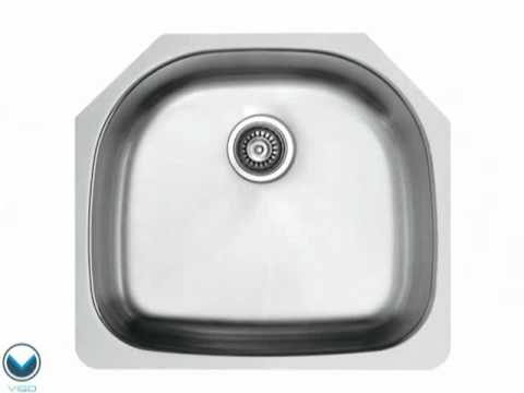 Video for 24-Inch Undermount Stainless Steel 18 Gauge Single Bowl Kitchen Sink