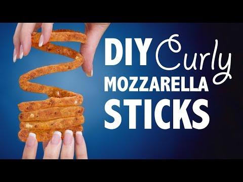 DIY CURLY MOZZARELLA STICKS - VERSUS