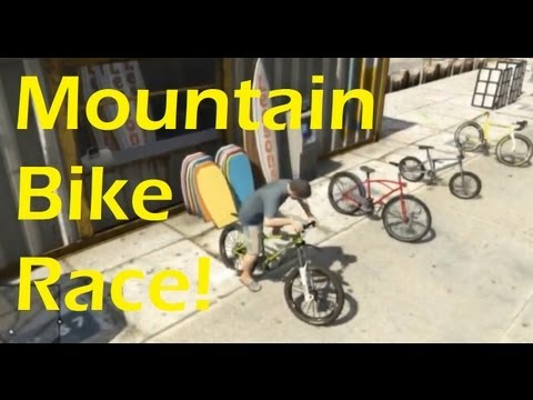 GTA V: Mountain bike race! | Stream highlight (XBOX 360/PS3)