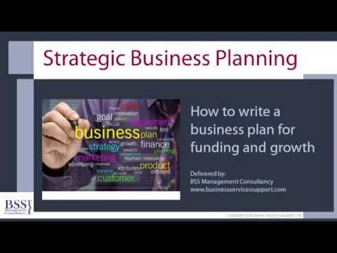 Online Course- Strategic Business Planning-How To Write A Business Plan