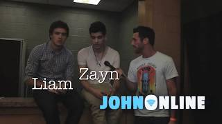 One Direction walk off interview! (Liam and Zayn have a Diva Strop)