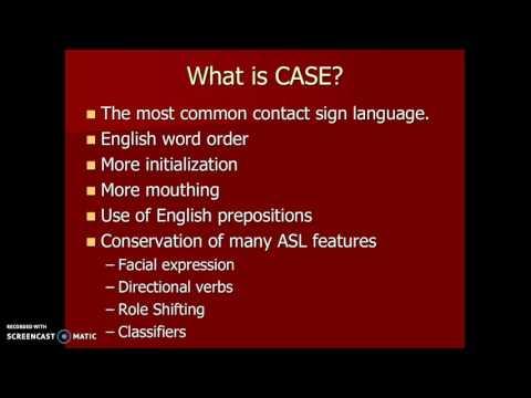 #35b The  ASL/English Continuum