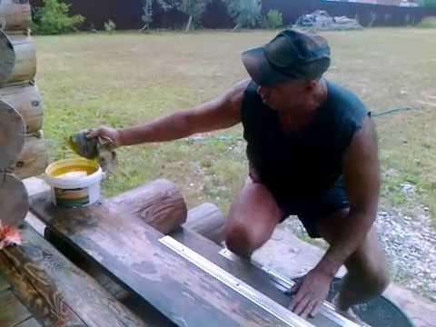 Практика нанесения МАСЛОВОСК Анта. Как Масловоск защищает древесину. Тест - 1 год