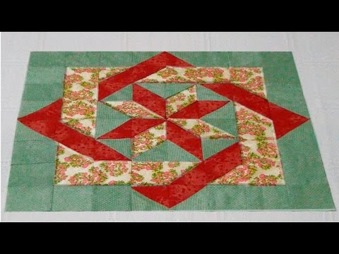 patchwork - blocco con quadrati intrecciati