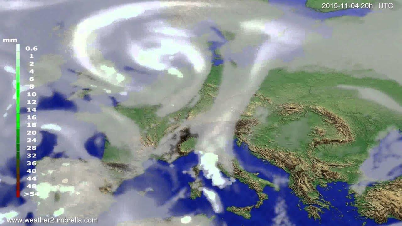 Precipitation forecast Europe 2015-11-02