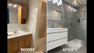 Amazing DIY Small Bathroom Remodel Renovation for under $5K timelapse
