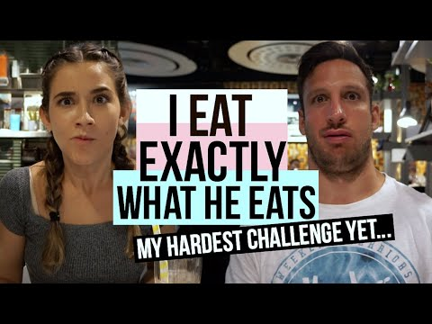 I EAT EVERYTHING MY BOYFRIEND EATS for a Day