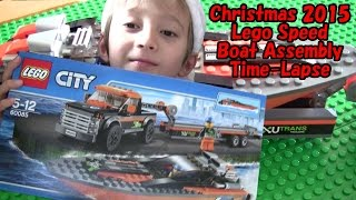 Christmas 2015 Lego Speed Boat Assembly Time-Lapse (60085)