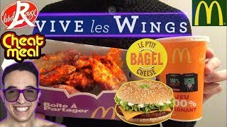 ASMR Dégustation Mcdo Test WINGS & BAGEL #TEAMSHAPE - Mukbang Français