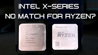 Intel has appeared to not care about AMD's Ryzen 7 launch. From keeping normal i5 & i7 prices the same to still charging $600 for an 8-core CPU, Intel appears to be acting as if they're still untouchable. But are they really? Is there really no comparison between their 7820X and Ryzen 7 CPU's?  We'll have to wait until Threadripper until we see a true competitor for their 7900X 10 Core 20 Thread CPU though.Thanks to ASUS South Africa for letting me use the X370 Crosshair VI Hero, ROG Strix X299-E Gaming, and i7-7820X.In South Africa? Check out Wootware for all your PC needs: https://goo.gl/MzNEeAROG Strix X299-E Gaming - http://amzn.to/2sQgf8RIntel X-Series CPU: http://amzn.to/2sVGxaqX370 Crosshair VI Hero: http://amzn.to/2tsNO1nRyzen 7 CPU's: http://amzn.to/2tyvbtHStrix 1080 Ti: http://amzn.to/2usgjcoStrix RX 580: http://amzn.to/2sKkZxkDual RX 580: http://amzn.to/2rrnMrhTrident Z RGB: http://amzn.to/2prkDHIASUS PCI WiFi Adapter: http://amzn.to/2teOAwmEnthoo Evolv: http://amzn.to/2oHZU5oHD120 RGB: http://amzn.to/2pfqYHQThermaltake Toughpower RGB 850W: http://amzn.to/2lSKNUvFor the intro/outro music by Kalyptra: https://goo.gl/eVmyNVdJoin the UFDisciple Discord server! - https://discord.gg/PApp82hMy Twitter - http://www.twitter.com/ufdiscipleMy Facebook - http://www.facebook.com/ufdiscipleMy Instagram - http://www.instagram.com/ufdisciple
