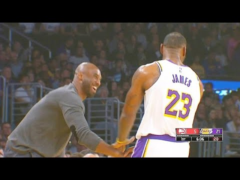 Kobe Bryant Gives LeBron James His 3 Point Shooting Powers During Greeting & Gets Standing Ovation!