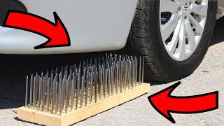 Video EXPERIMENT: CAR VS 200 NAILS 😱 MP3, 3GP, MP4, WEBM, AVI, FLV Juli 2019