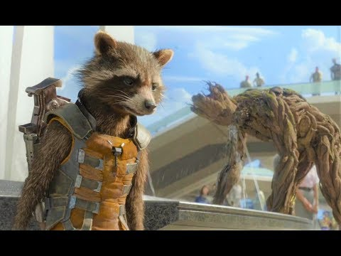 Guardians of The Galaxy Vol 1 - Rocket And Groot Best Scenes