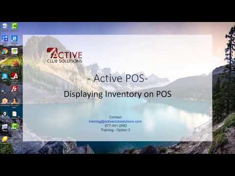 Active Club Solutions - POS Inventory Display