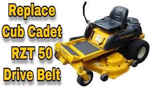 1. How To Replace The Drive Belt (Pump Belt) On A Cub Cadet RZT 50 Zero Turn Mower - with Taryl