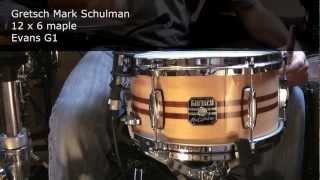 Download Lagu 9 snare drums: Tama, Pearl, Gretsch, DW, Ludwig, Pork Pie, Mapex Mp3