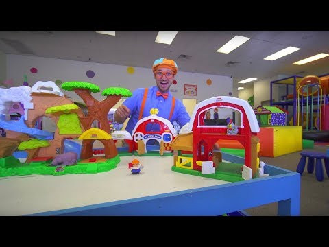 Blippi at the Indoor Play Place | Learning Movements (видео)
