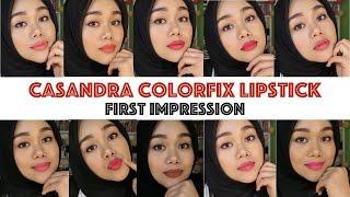 Casandra Colorfix Lipstick   First Impression + GIVEAWAY!!!   Bahasa Indonesia   MakeupbyFatya Video