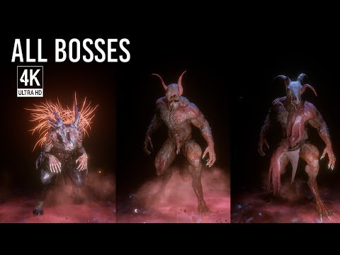 Agony - All Boss Fights / All Bosses & Ending (4K 60FPS, no HUD)
