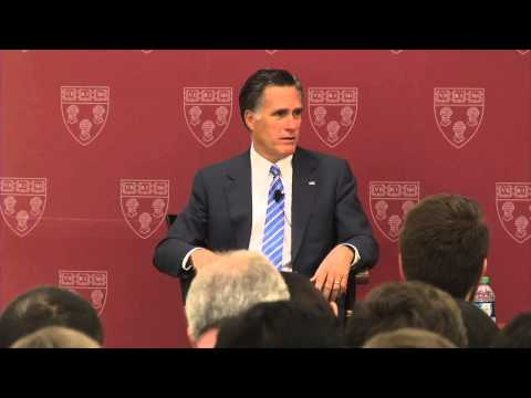 A conversation with Mitt Romney at HLS