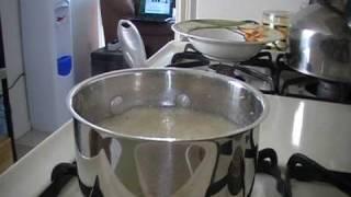 """Breakfast"" Cooking with Kengi ~Scrambled Eggs, Grits, Coffee"
