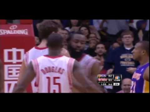 James Harden dunks on Robert Sacre