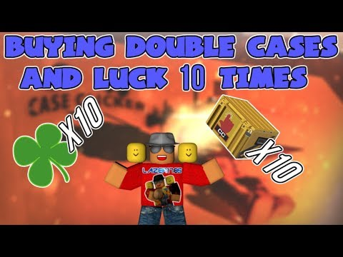 [Roblox] Case Clicker: BUYING 10 TIMES DOUBLE CASES & LUCK (This is what happened) (видео)