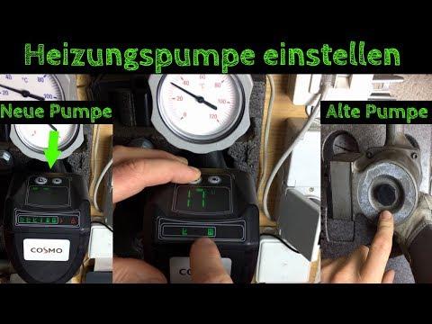 Heizungspumpe einstellen und entlüften / Stromverbrauch - Anleitung - deutsch - (Umwälzpumpe)