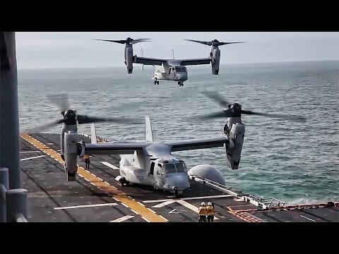 MV-22B Ospreys, tiltrotor aircraft...
