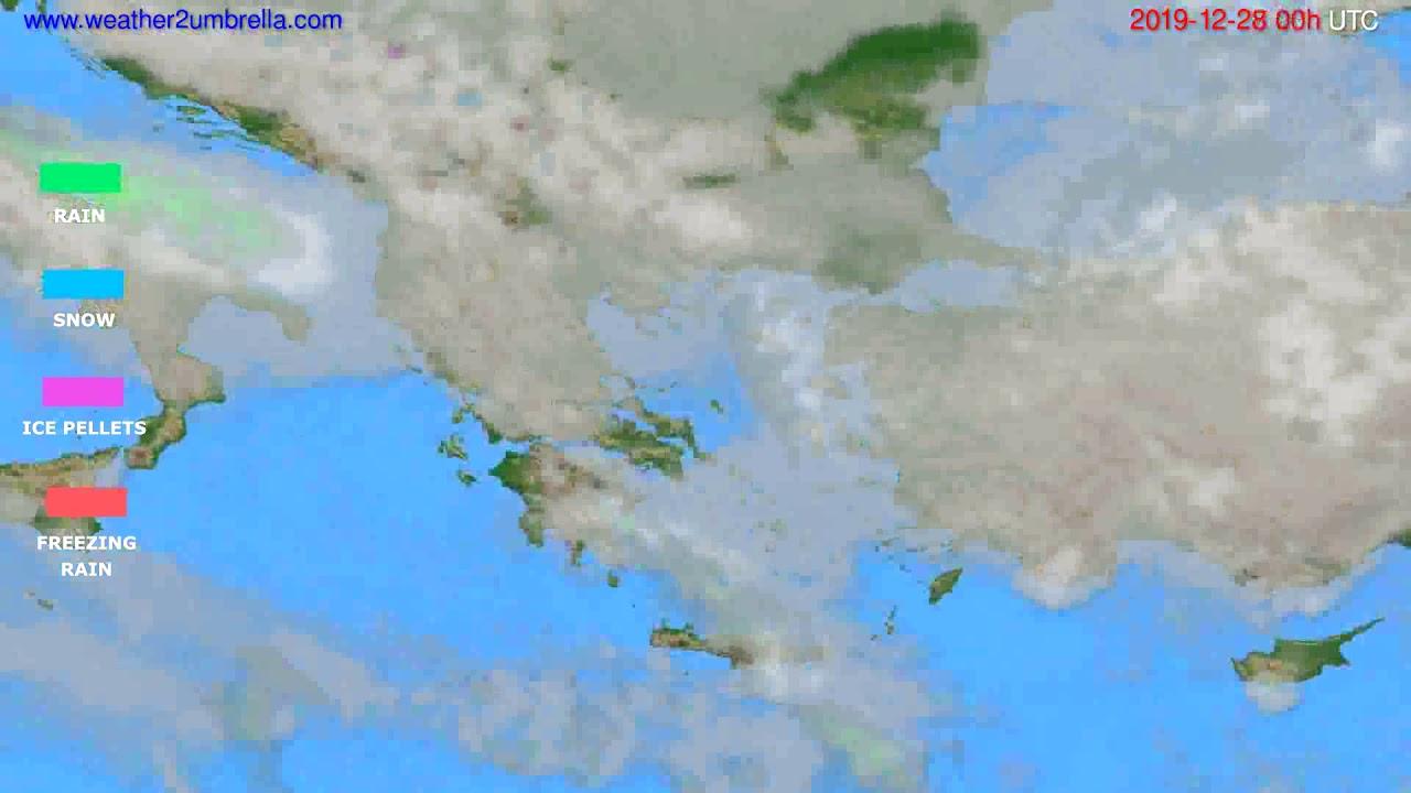 Precipitation forecast Greece // modelrun: 00h UTC 2019-12-27