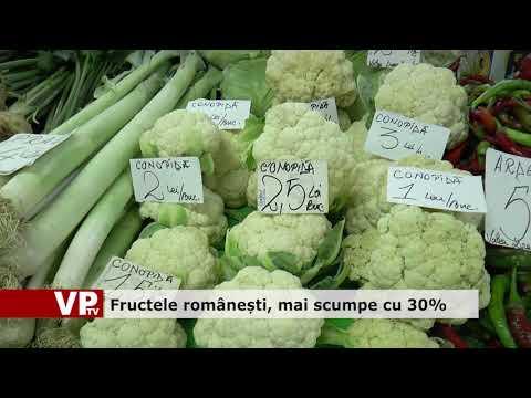 Fructele românești, mai scumpe cu 30%