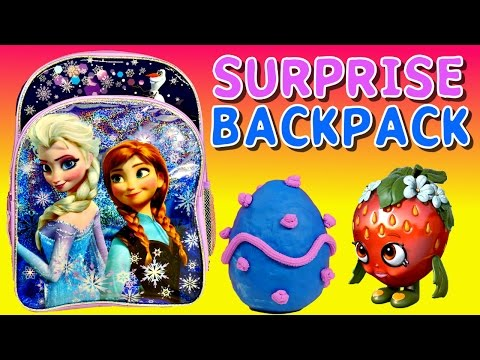 surprise - Surprise Backpack time with lots of fun stuff like - Barbie Disney Frozen Monster High Shopkins My Little Pony Disney Princess Sofia The First and Play Doh S...