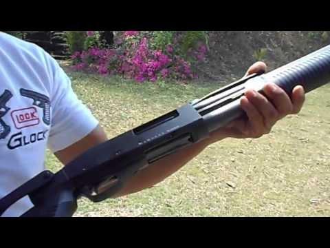 ปืนลูกซอง - ลองฝึกยิงลูกซอง ในสนาม.
