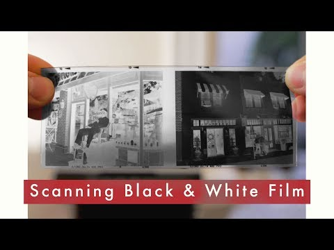 Scanning Black & White Negative Film