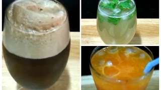 3 Summer Drinks Recipes/ Simple and Easy Recipes/ How to Make Aam Panna, Coc Float ,Mango Masti.