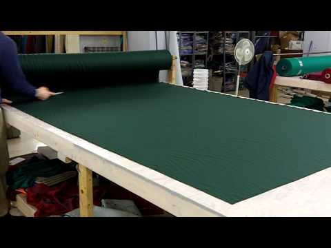 Cutting pool table felt.MOV