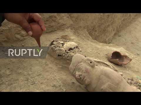 Peru: Tattooed children's skulls found in ancient Moche cemetery