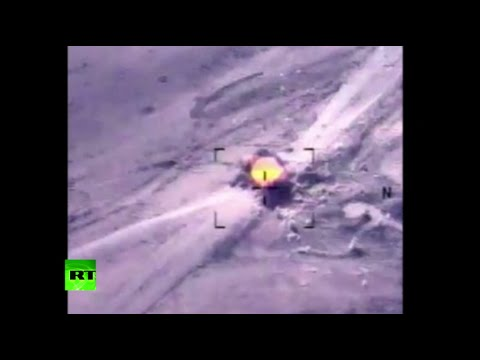 Combat Cam%3A US airstrikes destroy ISIS armed trucks