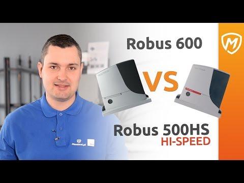 Robus600 VS Robus500 Hi Speed . Porównanie siłowników