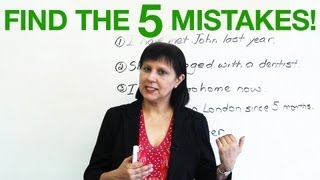 Find the 5 mistakes, Basic English Grammar