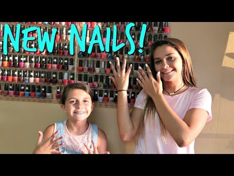 Nail salon - GIRLS DAY AT THE BEAUTY SALON! FILMING AT SCHOOL WITH ELLIE!  EMMA AND ELLIE