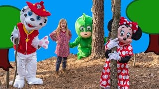 Play Hide n Seek with PJ MASKS Paw Patrol and Minnie Mouse! Please Subscribe Here http://www.youtube.com/user/TheEngineeringFamily?sub_confirmation=1Check out our second channel - https://www.youtube.com/channel/UCPC55dCdzIjNJd421LbK3uwIn this The Engineering Family YouTube outdoor adventure video join the Assistant, Marshall from Paw Patrol, DIsney PJ Masks Gekko and Minnie Mouse as they play hide n seek! Check out some of these other fun TheEngineeringFamily Treasure HuntsDISNEY SURPRISE TREASURE Secret Surprise Treasure with the Assistant a Disney World Video Surprise   https://youtu.be/a3c5pAJ-o-kPJ MASKS Disney Search For PJ Masks with Blaze and Paw Patrol Video  Adventure   https://youtu.be/4mV2sNE14PgAssistant Slip N Slide Bounce House Carnival Challenge Surprise Toys Video  https://youtu.be/HKE2lCvb6fMASSISTANT TREASURE HUNT Paw Patrol Look Out Hunt + toysZootopia + Lion Guard Toys Surprise Video  https://youtu.be/ECgPK35Gw3wOr these Playlists!  Funny Kids Videos     https://www.youtube.com/playlist?list=PLoLQ9unpi4OHXhaMeWT2y6P27pbuzKbckFeaturing the Assistant   https://www.youtube.com/playlist?list=PLoLQ9unpi4OGfgjxJsWnO878aLXo2TgXHAbout The Engineering FamilyWe are The Engineering Family, a family of educators working to show you how to make learning fun and engaging through toy unboxings, toy reviews, and original series designed to insight imaginative play within your family. With Mr. Engineer as an experienced engineer with a love of exploring new things, Mrs. Engineer an award winning teacher with a math and counseling focus, and their daughter The Assistant you can think of The Engineering channel as your imagination station. You can think of The Engineering Family channel as a Funbrain meets YouTube. This family is taking some of the coolest toys like Paw Patrol, Shimmer and Shine, Scooby Doo, PJ Masks, Doc Mcstuffins, and plenty of fun Real Life live action videos that help teach children valuable STEM content. As always... TheEngineeringFamily only features 100% suitable family fun entertainment.