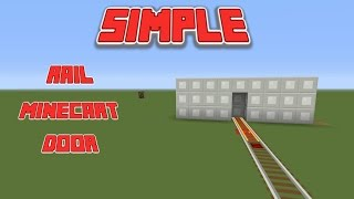 Minecart Rail Door (tutorial) Minecraft PS4